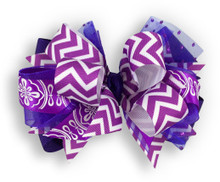 Purple Chevron Bow
