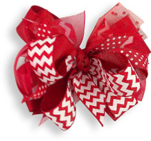 Red Chevron Bow