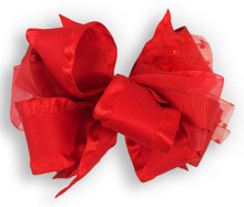 Solid Red Bow