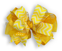 Yellow Chevron Bow