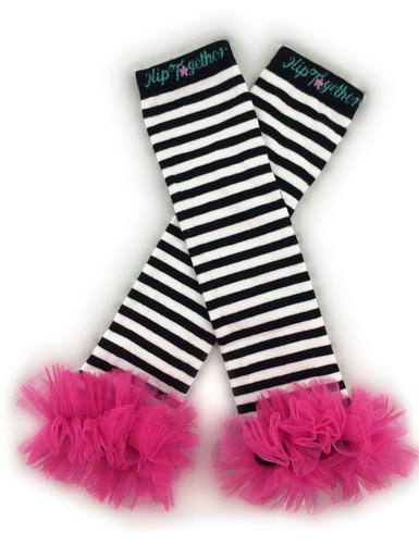 Black & White w/Hot Pink Tutu Leggings