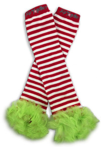 Red & White w/Lime Tutu Leggings