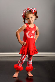 Baseball Sister Dress Red