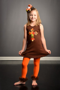 Fall Patchwork Cross Dress