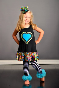 Polka Dot Triple Heart Dress