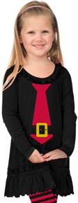 Santa Buckle Tie Dress