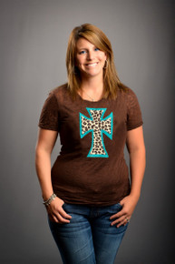 Teal Leopard Cross (Women's)