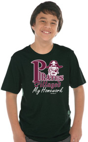 Pirates Pillaged My Homework Tee