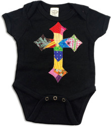 Patchwork Cross Onesie