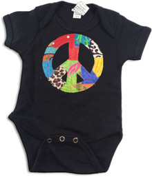 Patchwork Peace Onesie