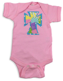 Spring Patchwork Cross Onesie