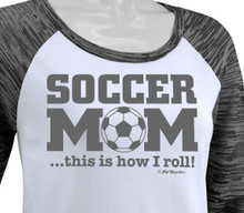Soccer Mom Raglan Closeup