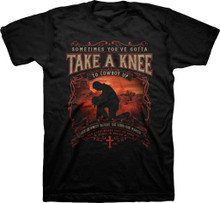 Kerusso Take A Knee Cowboy Up Western Christian Shirt