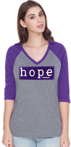 Womens Purple Hope Awareness Raglan