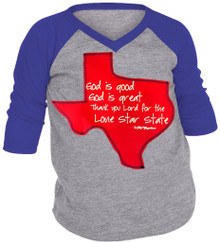 Lone Star State Girls Raglan