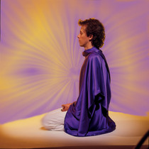 "This Tachyonized meditation wrap nurtures, enhances, and deepens meditation. A perfect Tachyon product for light workers, meditators, and tantra practitioners. ""This divine silk shawl offers the quality of peace and nurturing for a blissful meditation. It can also be used for calming children, or creating a special vibration for a client in a session."" - Ma Ananda Sarita"