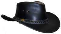 """""""Tabasca"""" Leather Hat"""