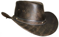 """""""Padron"""" Leather Hat"""
