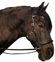 """Calli"" Bitless Leather Hackamore Bridle"