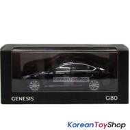Hyundai Motors Genesis G80 Diecast Metal Mini Car Toy 1/38 Black Genuine