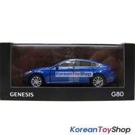 Hyundai Motors Genesis G80 Diecast Metal Mini Car Toy 1/38 Blue Genuine