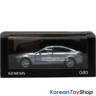 Hyundai Motors Genesis G80 Diecast Metal Mini Car Toy 1/38 Metal Silver Genuine
