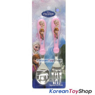 Disney Frozen Easy Stainless Steel Spoon Fork Set / BPA Fee / Made in Korea