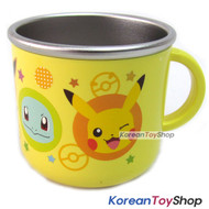 Pokemon Pikachu Stainless Steel Handle Cup w/ Non Slip Pads Made in Korea