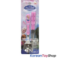 Disney Frozen Stainless Steel Spoon Chopsticks Set Pink BPA Free Made in Korea