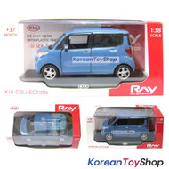 Kia Ray Diecast Metal Mini Car Toy 1:38 Kia Brand Collection Alice Blue Color