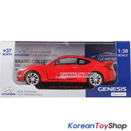 Hyundai Motors Genesis Coupe Diecast Metal Mini Car Toy 1/38 Red