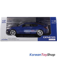 Hyundai Motors Genesis Coupe Diecast Metal Mini Car Toy 1/38 Blue