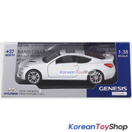 Hyundai Motors Genesis Coupe Diecast Metal Mini Car Toy 1/38 White