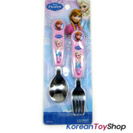 Disney Frozen Cute Stainless Steel Spoon Fork Set for Young Kids