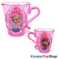 Disney Frozen Plastic Cup Tiara Style Anna Elsa Pink Color 290ml