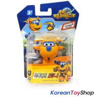 Super Wings Mini Transformer Robot Toy DONNIE / Korean Animation Yellow Airplane