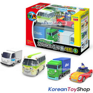 00160 Little Bus TAYO Friends Special 4 pcs Mini Car Toy V.5 Buba Lucy Big Tony NEW