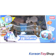 Robocar Poli Shakybridge Playset & Musty Diecast model for Diecast model
