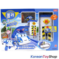 Robocar Poli Parking Towel Play Set w/ Poli Diecast Metal Mini Car & Jin Figure
