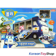 Robocar Poli Mobile Headquarter Convertible Trailer Carrier Toy w/ Diecast Poli