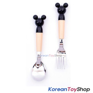 Disney Mickey Mouse Mono Icon Stainless Steel Spoon & Fork Set Kids BPA Free