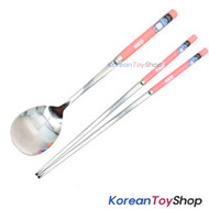 KAKAO Friends NEO Stainless Steel Spoon & Chopsticks Set BPA Free L Size Korea