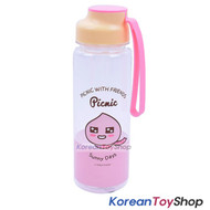 KAKAO Friends APEACH Picnic Silicone Handle Water Bottle 500ml Original BPA Free