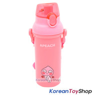 KAKAO Friends APEACH One-touch Shoulder Strap Water Bottle 450ml Original