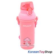 KAKAO Friends APEACH One-touch Shoulder Strap Water Bottle 450ml Original