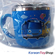 The Little Bus Tayo Stainless Steel Cupl 250ml w/ Lid Handle Non Slip Original