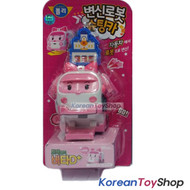 Robocar Poli Amber Transformer Robot Shooting Mini Car Toy Model 1 pc Original