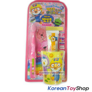 Pororo Toothbrush Toothpaste Cup Set Pink Kids Children Over 3years M/ Korea