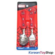 Marvel Spider Man Wave Stainless Steel Spoon Fork Set Kids Children / BPA Free