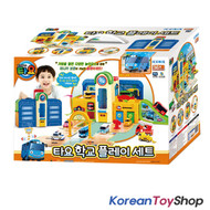 01020 - Tayo The Little Bus School Play Set Garage Toy w/ Mini Tayo Korean Animation